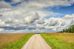 Path in landscape Franconia Stock Photo