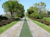 Path  through the landscape park. Beautiful path  through the landscape park Royalty Free Stock Images