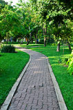 Path through the landscaped park Royalty Free Stock Image