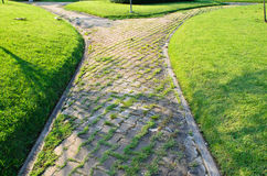 Path through the landscaped park Royalty Free Stock Images