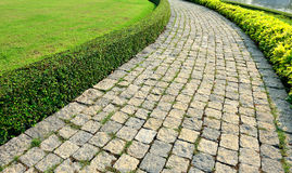 Path and Lawn Royalty Free Stock Photography