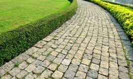 Path and Lawn. In Bang Pa-In Royal Palace , Ayutthaya Province, Thailand Royalty Free Stock Photography
