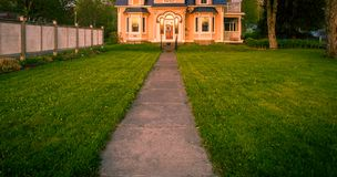 Path and front lawn Stock Image