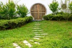 Path lead the door Stock Image