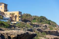 Path leading from Bondi Beach to Tamarama Beach royalty free stock images