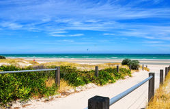 Path leading down to the beach Royalty Free Stock Image