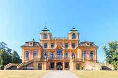 Path leading to Favourite Palace of Schloss Ludwigsburg Stock Photo