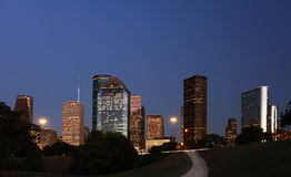 Path leading to the Houston Skyline Royalty Free Stock Photography