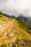 Path leading to Machu Picchu by morning light Stock Photo