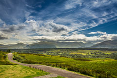 Path leading to the mountains in Scotland royalty free stock image