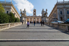 Path leading to the Musei Capitolini Royalty Free Stock Photos