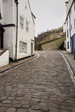 Path leading to steps for Whitby Abbey Royalty Free Stock Image