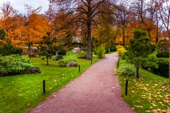 Free Path Leading To The Japanese Garden In Kadriorg Park. Royalty Free Stock Image - 206660416