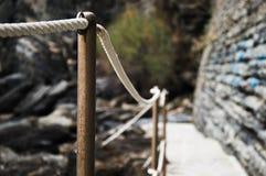 Path liguria fence stock photo