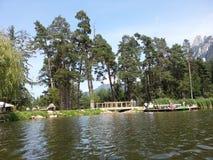 Path in little Fie lake Stock Photo