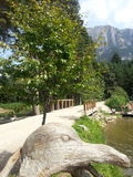 Path in little Fie' lake Stock Image