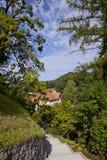 Path from mali grad in Kamnik. Small stone road from mali Grad Castle in Kamnik Slovenia Stock Images