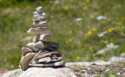 Path marker. In the alps located in the Unesco Hertitage of Aletsch, Switzerland royalty free stock photos
