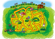 Path maze royalty free illustration