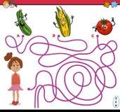 Path maze activity task Stock Image