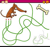 Path or maze cartoon game vector illustration