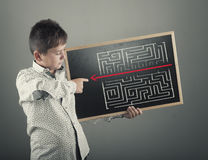 Path through the maze. Royalty Free Stock Image