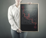 Path through the maze. Stock Photography