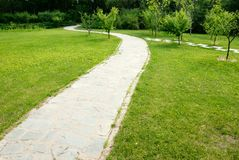 Path through the meadow. Royalty Free Stock Photo