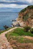 Path on Mediterranean Sea Coastline Royalty Free Stock Images