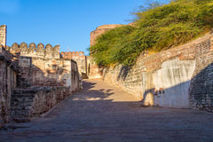 A path at Mehrangarh Fort Royalty Free Stock Photo