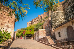 A path at Mehrangarh Fort Royalty Free Stock Image