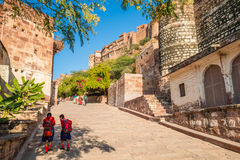 A path at Mehrangarh Fort Royalty Free Stock Images