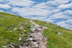 Path in montains Royalty Free Stock Photo