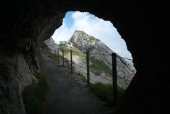 Path at mount Pilatus Stock Photos