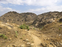 Path on mountain in south sudan Stock Photo
