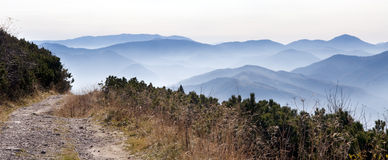 Path in mountains Royalty Free Stock Images