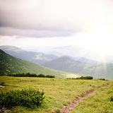 Path in mountains Stock Image