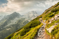Path in mountains Royalty Free Stock Image