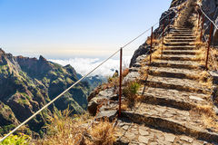 Path in the mountains Royalty Free Stock Photos