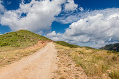 Path in mountains Stock Photo