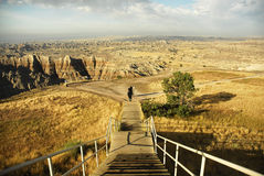 Path through national park. Footpath through Badlands national park, South Dakota Royalty Free Stock Images