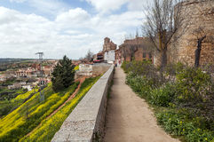 Path near city walls Royalty Free Stock Image