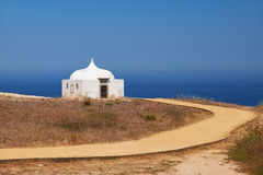 Path near Ermida da Memoria or Memory Chapel of Nossa Senhora do Stock Image