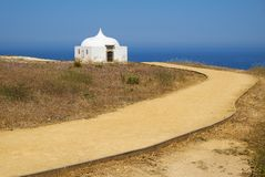 Path near Ermida da Memoria or Memory Chapel of Nossa Senhora do Stock Images