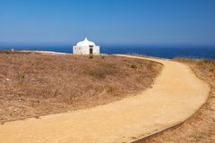 Path near Ermida da Memoria or Memory Chapel of Nossa Senhora do Stock Photography