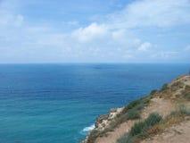 Path near the precipice. Sevastopol, Crimea Royalty Free Stock Images