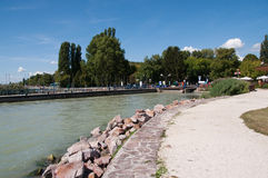 A path next to the landing stage of a ferryboat Royalty Free Stock Photo