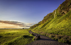 Path next to Seljalandsfoss Waterfall in Iceland Royalty Free Stock Photo
