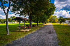 Path at North East Community Park in North East, Maryland. Royalty Free Stock Photos