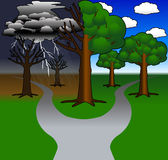 Path_not_taken Imagem de Stock